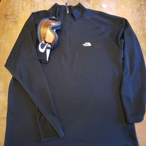 North Face pullover qtr zip Oakley goggles bundle